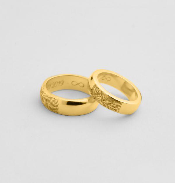 Engagement Fingerprint Rings